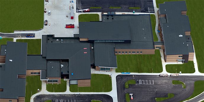 PVC Roof Green Local School District (made with Elvaloy® KEE)