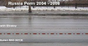 Perm, Russia, Pavement Uses Modified Binder Made with Elvaloy® RET