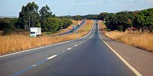 Transbrasilian highway pavement (Goias, Brasil) used modified asphalt binder.