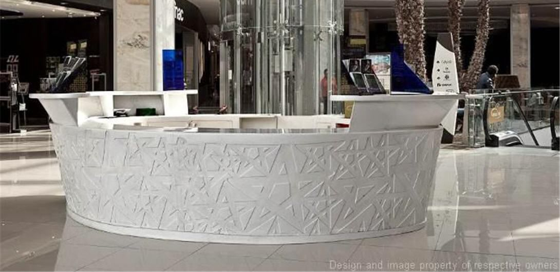Mall Design - A complete anthology of Corian® applications enclosed in an architectural pearl:  Morocco Mall