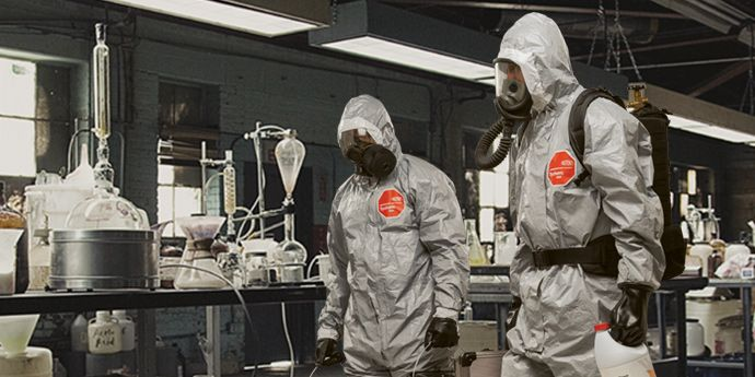 DuPont™ Tychem® F garments help provide protection from chemical warfare agents