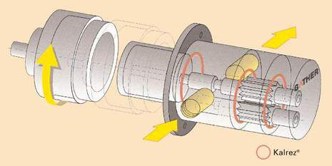 Kalrez® Gear Pump Drawing