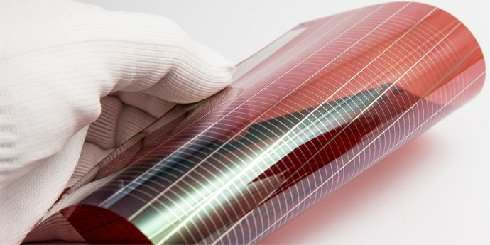 Organic photovoltaic cell with DuPont™ PE410 inkjet silver ink. Courtesy of Holst Centre
