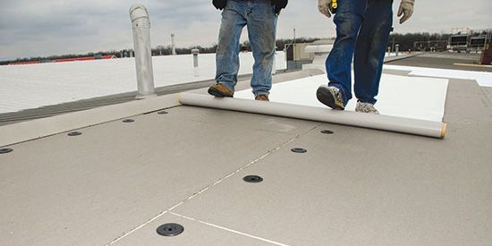 PVC roofing membrane system at Indiana Tube Corp.